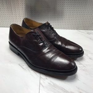 Johnston & Murphy cap toe lace up dress shoes